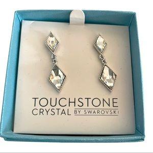 Touchstone Crystal Drop Swarovski Earrings